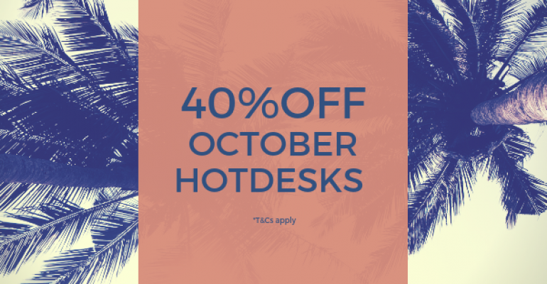 40% off Hot Desk Memberships in October
