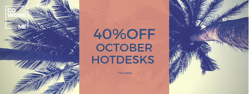 40% off Hot Desk Memberships in October