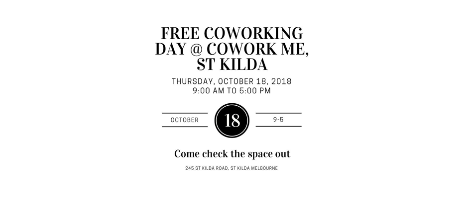 Free day of CoWorking @ CoWork Me