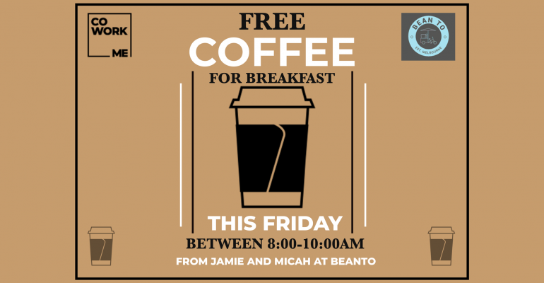 FREE COFFEE FRIDAY!