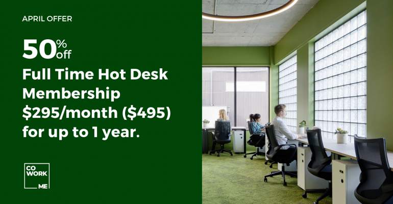 April Offer – 50% Off Full Time Hot Desk