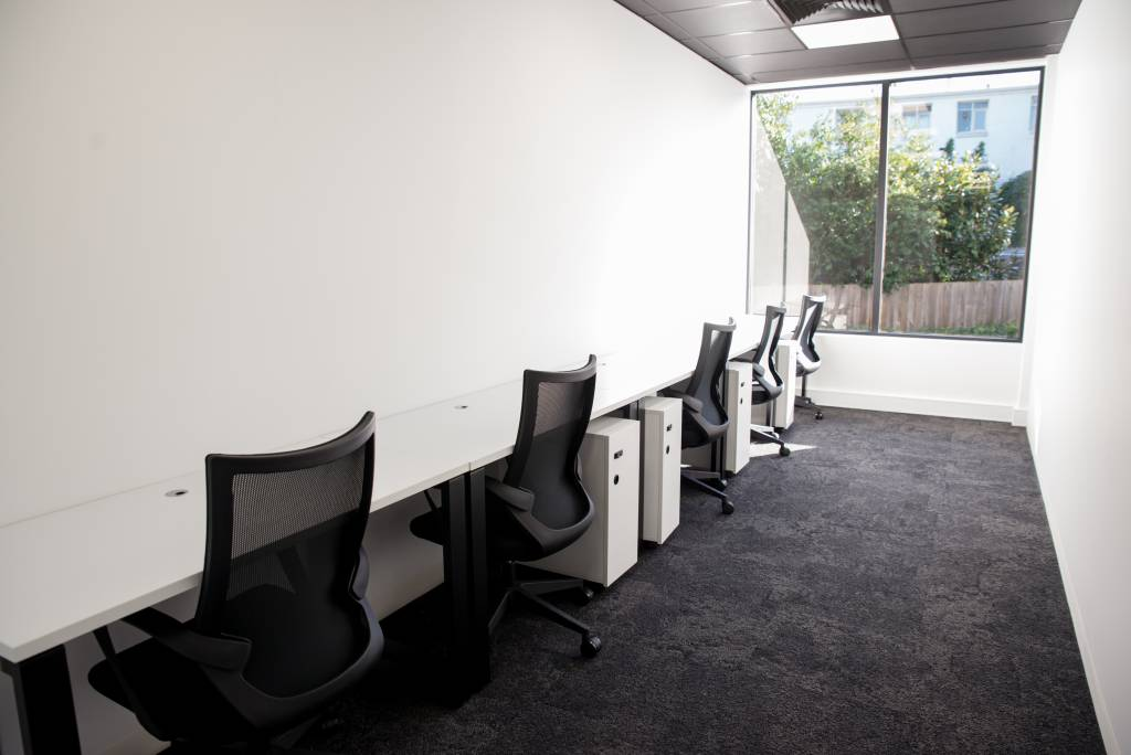 five person office at CoWork Me